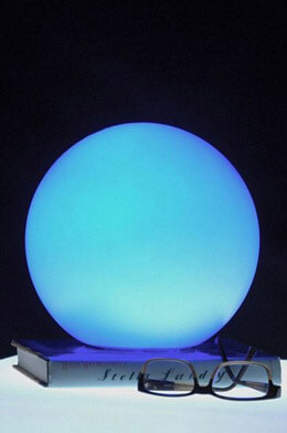 "9.5"" RGB Color Changing LED Globe, Battery Op. Waterproof"