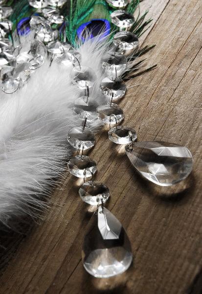Glass Crystal Garlands 5 Feet