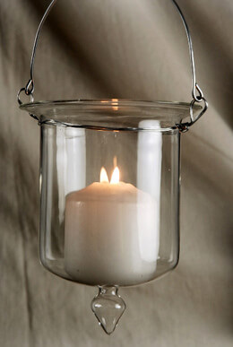 Glass Hanging Candle Holders 5x4