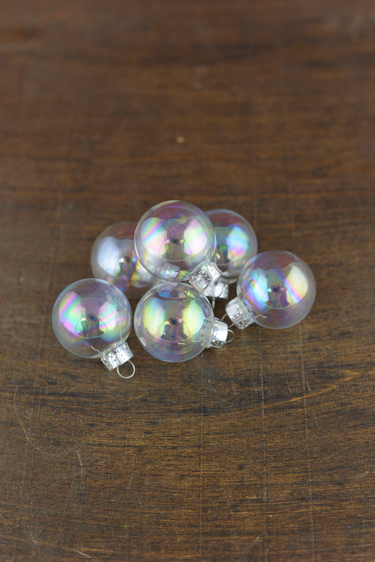20 Clear Glass 1 37in Ornament Balls Iridescent 35mm
