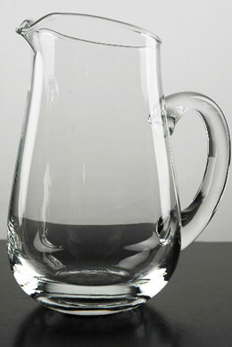 Glass Pitcher 7in