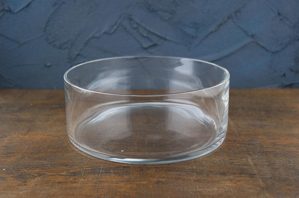 """Clear Glass Round Terrarium Dish 8"""""""