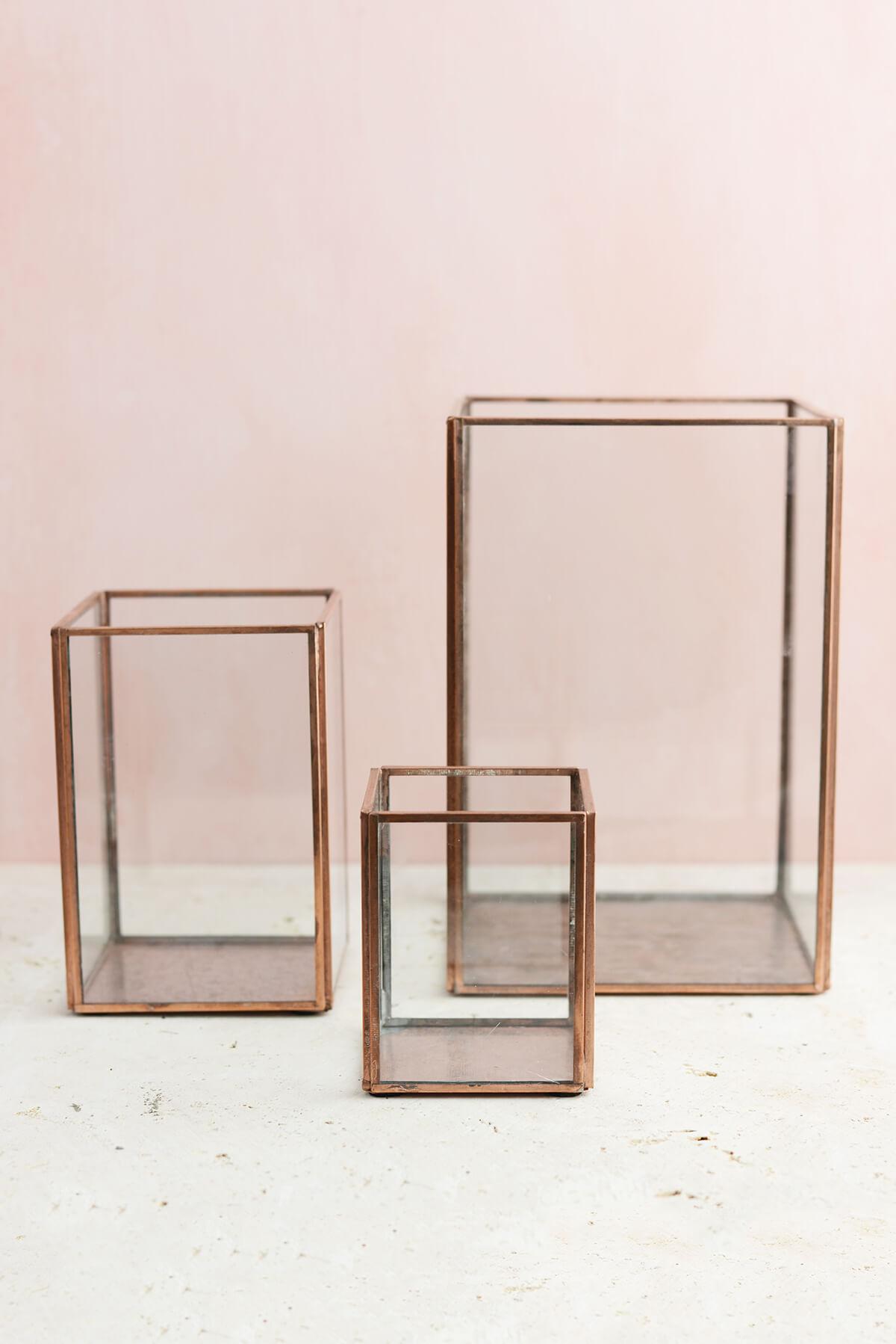 Terrarium Display Case Copper Small