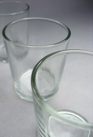 12 Clear Glass Votive Candleholders
