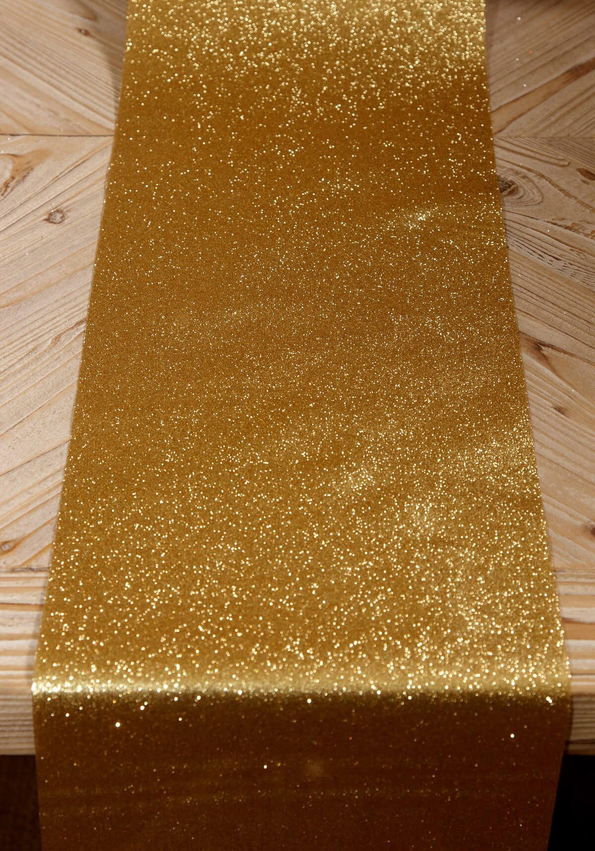 Glitter Ribbon Runner Gold 10in X 9ft