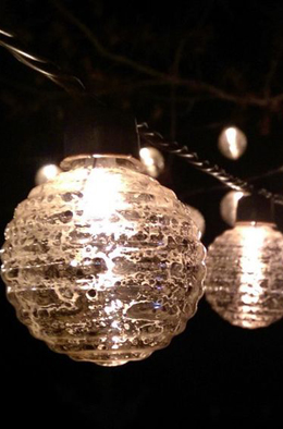 Globe Lights Mercury Glass String Light End to End  6ft - 10ct Outdoor