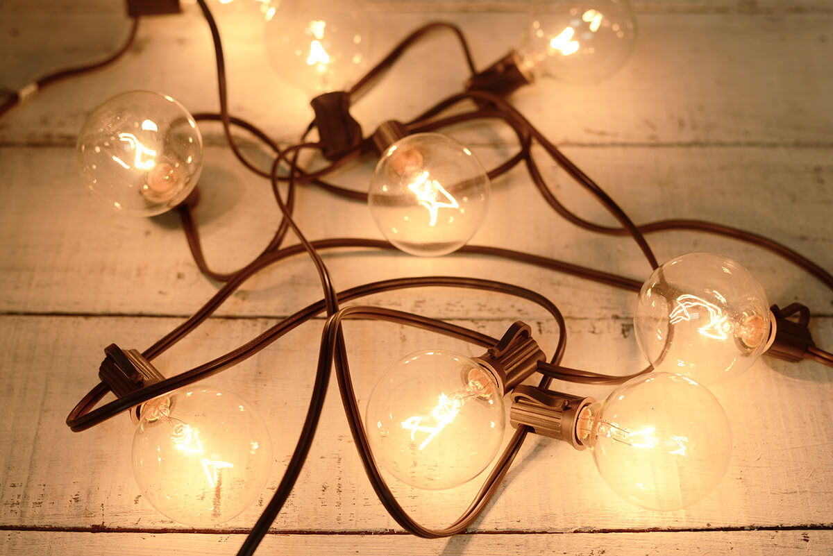 globe string lights brown wire 9ft 10ct 12in spacing - Brown Wire Christmas Lights