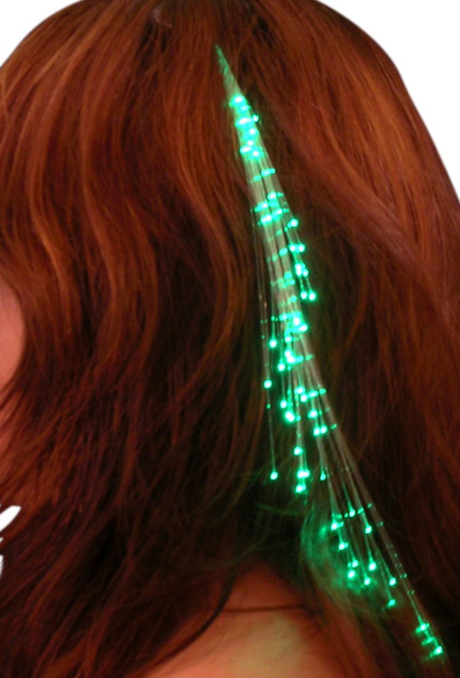 Glowbys Fiberoptic Light in Green with Crystal Barrrette