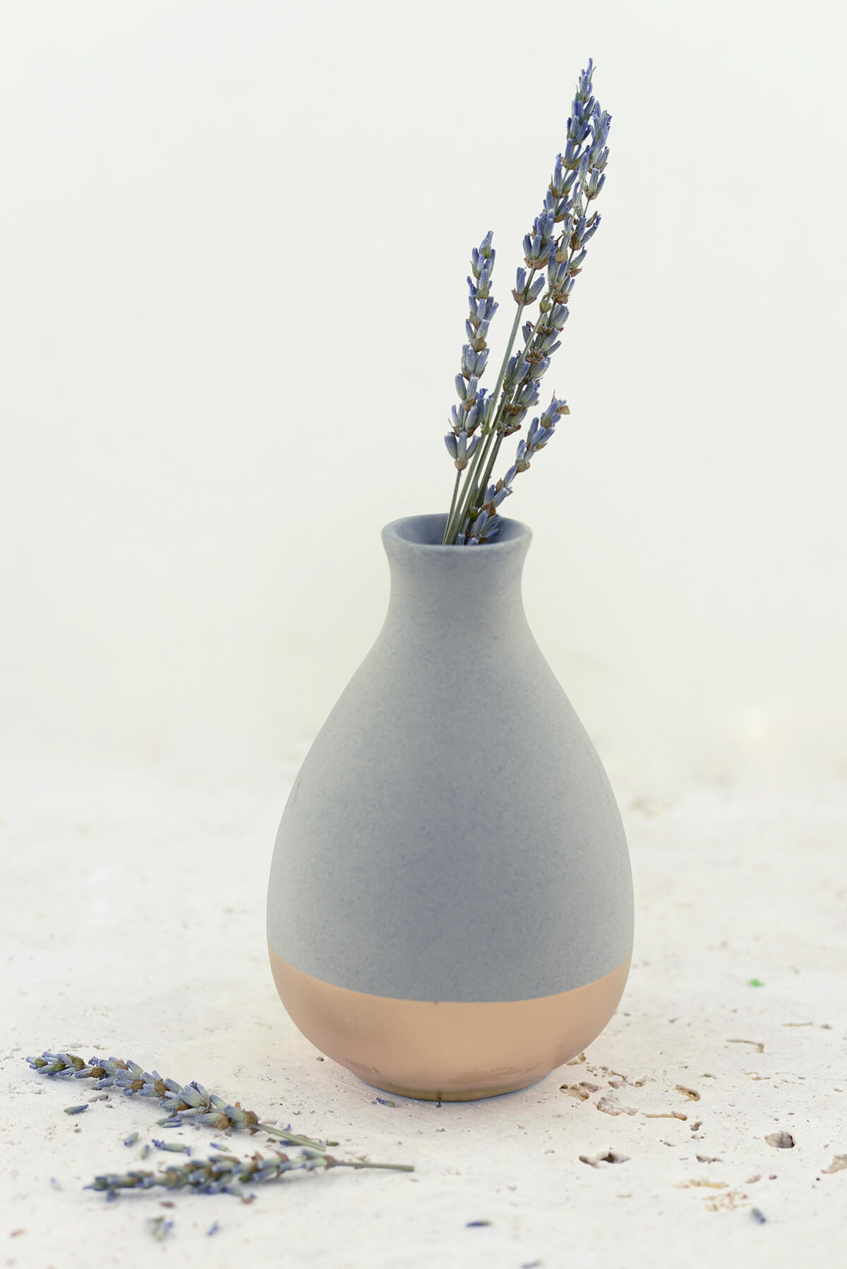 Gold Dipped Clay Teadrop Vase