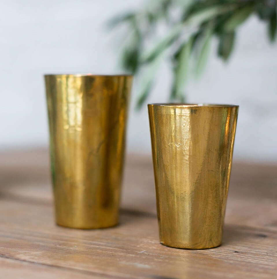Vivi Gold Vase & Votive Holder  5in