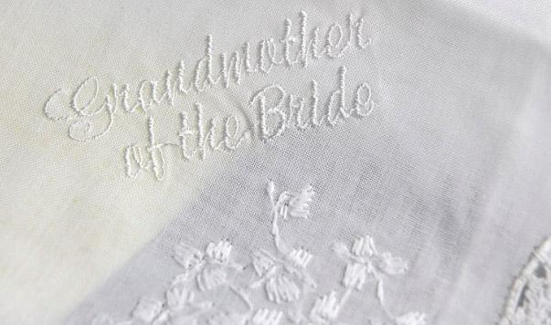 Wedding Handkerchiefs GRANDMOTHER OF THE BRIDE