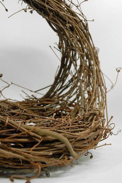 Handmade Grapevine Basket 13in