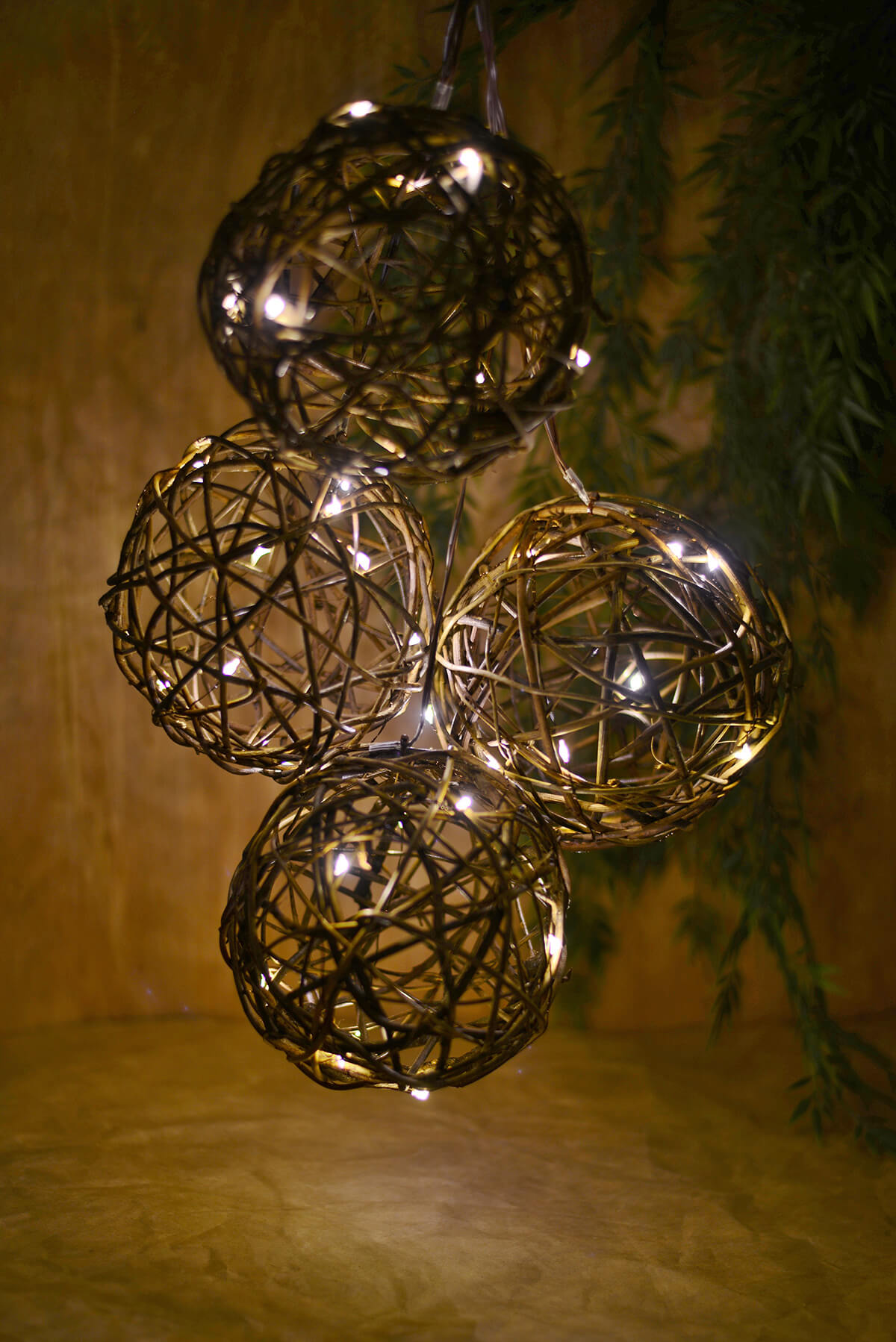 Grapevine String Lights 6ft Battery Operated 10ct Warm