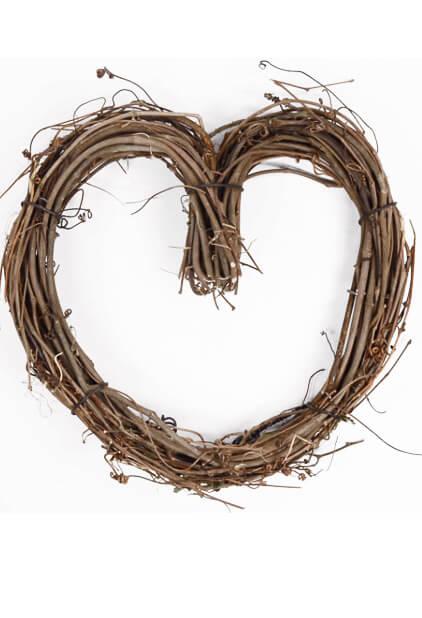 Grapevine 10 Inch Heart Wreath