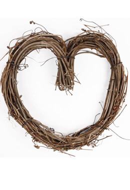 Grapevine 10 Inch Heart Wreath