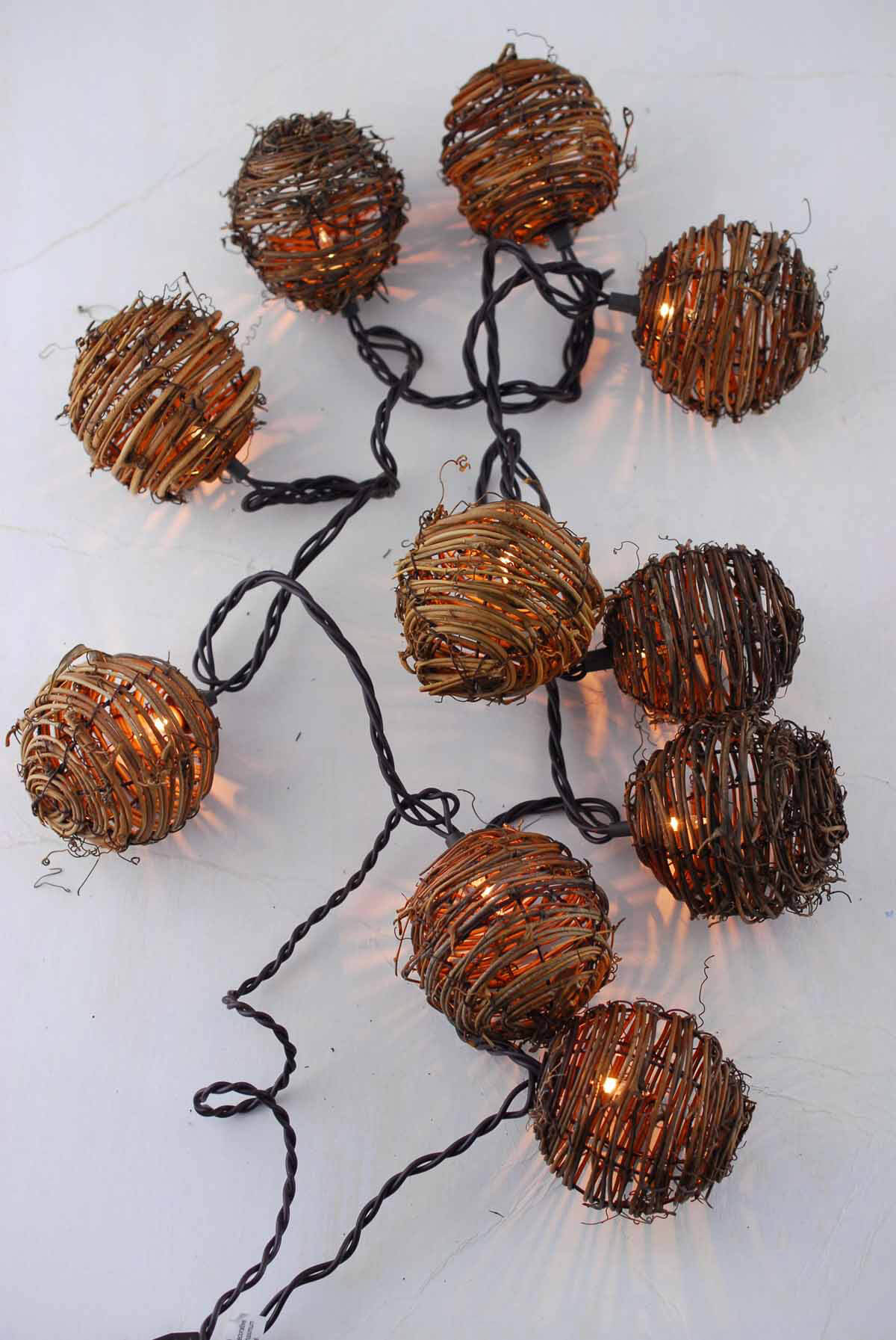 Grapevine String Lights 8ft 10ct End To End