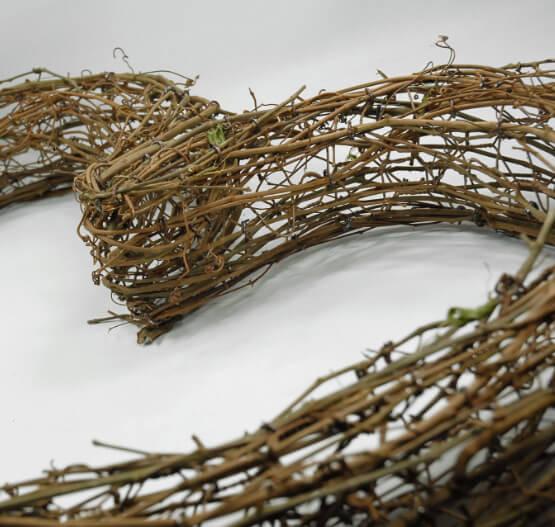 "Handmade Large 26"" Grapevine Heart Wreath"