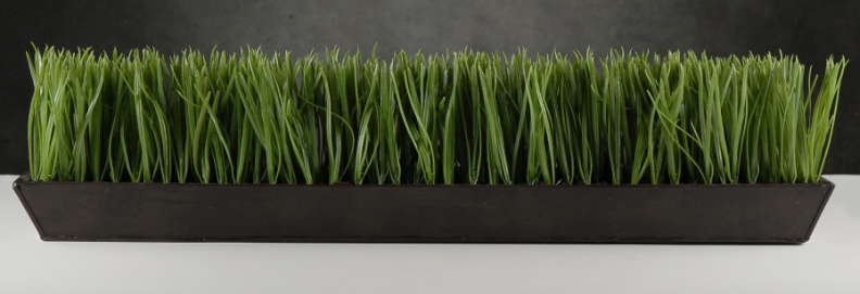 Narrow Amp Long Faux Grass Display In Metal Tray 25 5 Quot Long X 2 75 Quot Wide