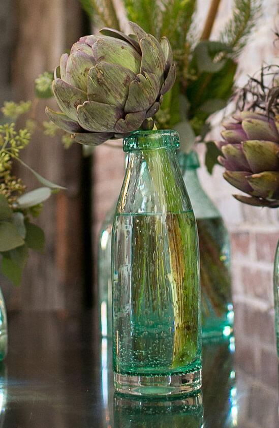 """Flourish Vintage Hand Blown Bottle 3.5""""x 10.5"""""""