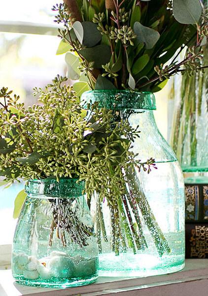 "Flourish Green Vase Terrarium 8""x 11"""