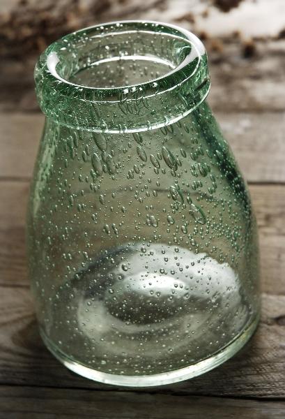 Flourish Vintage Cream Bottle 6 Inch Vases