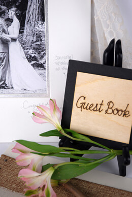 Wood Guest Book Sign 4x4