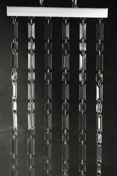 Crystal Curtain Baquette Cut 6 Feet Long