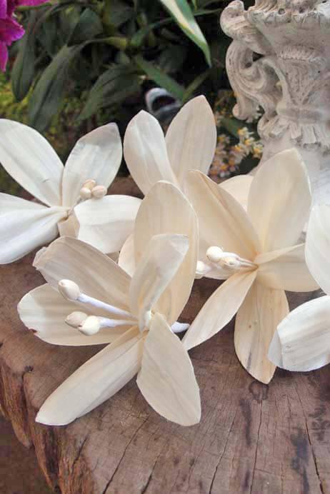 5 handmade paper lily flowers 5in mightylinksfo