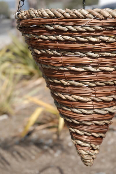 Fern Amp Rope Cone Hanging Baskets