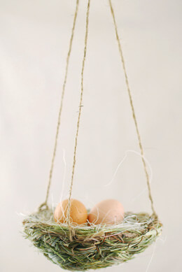 3 Hanging Bird Nest 4in