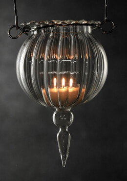Glass 6in Hanging Candle Holders