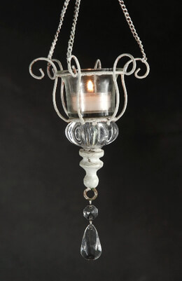 Crystal Hanging Votive Holder