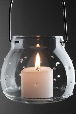 "4 Hobnail 3"" Gabi Hanging Candleholders"