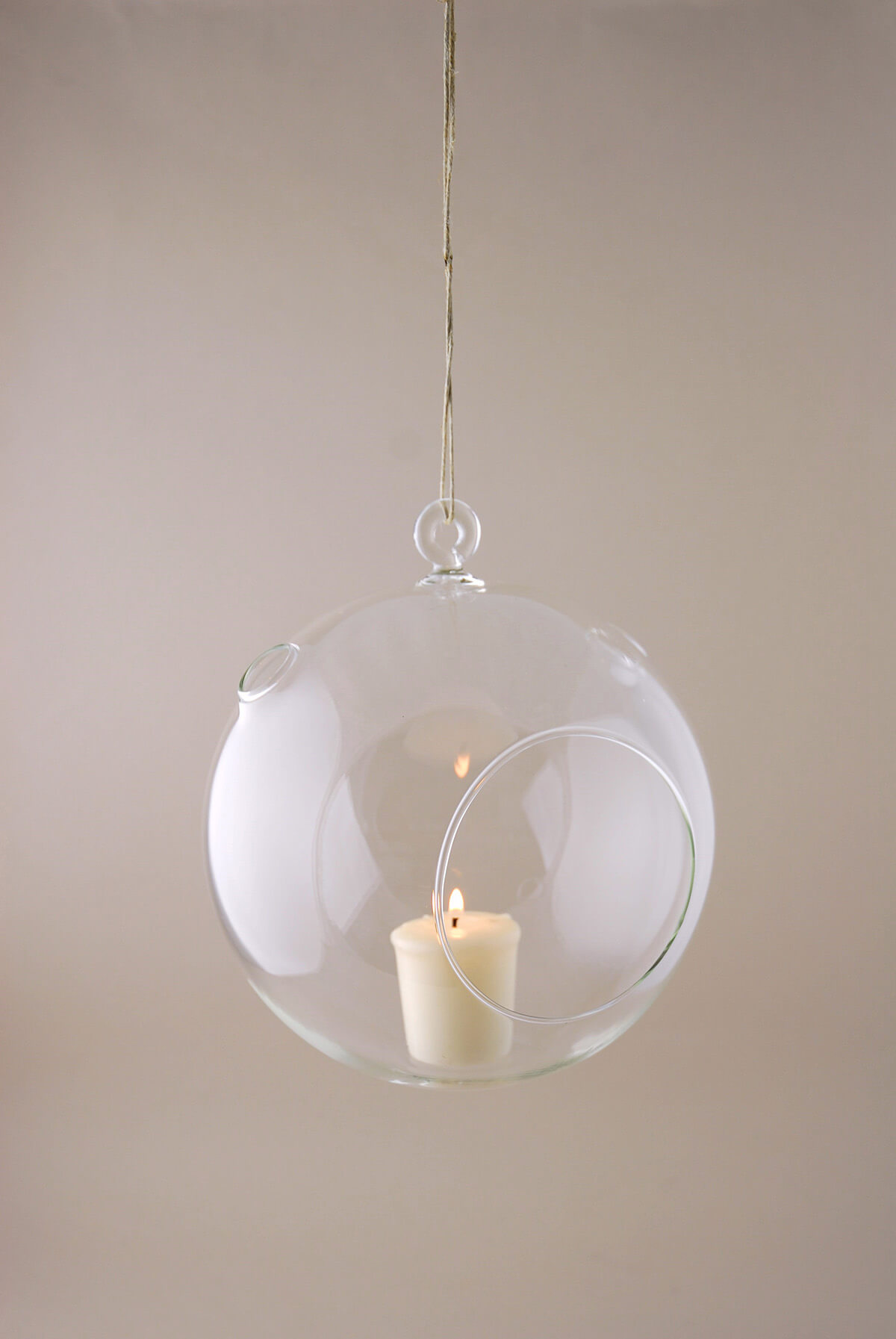Hanging glass candle holder for How to make glass candle holders