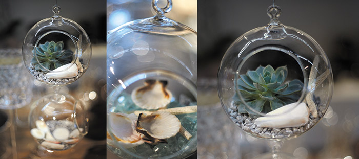 Hanging Glass 6in Globes Candleholder & Terrarium