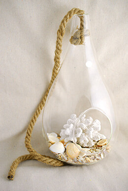 Hanging Glass Terrarium 15in