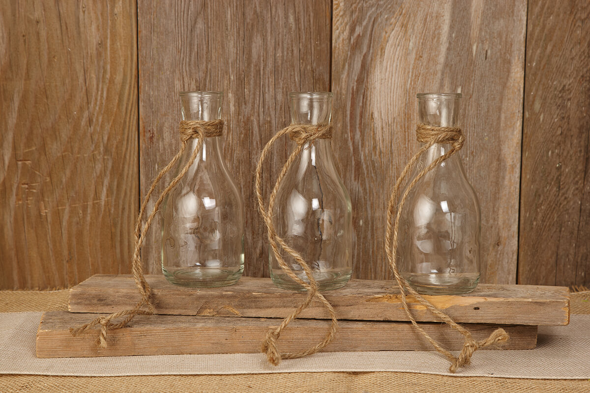 Hanging Glass Bottle Vase 6 75in