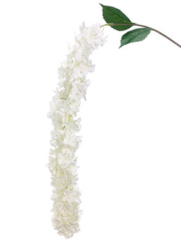 "72"" Hanging Hydrangea Spray  White"