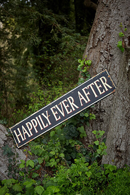 Happily Ever After Sign 50x10in