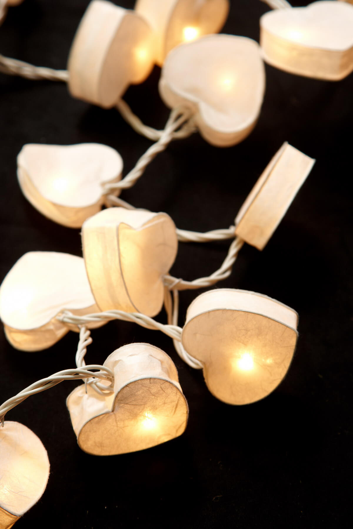 Heart String Lights White (20 Lights)