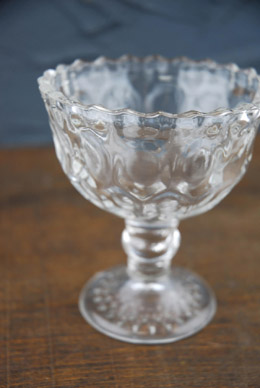 "6 Heirloom Glass 4"" Goblets"