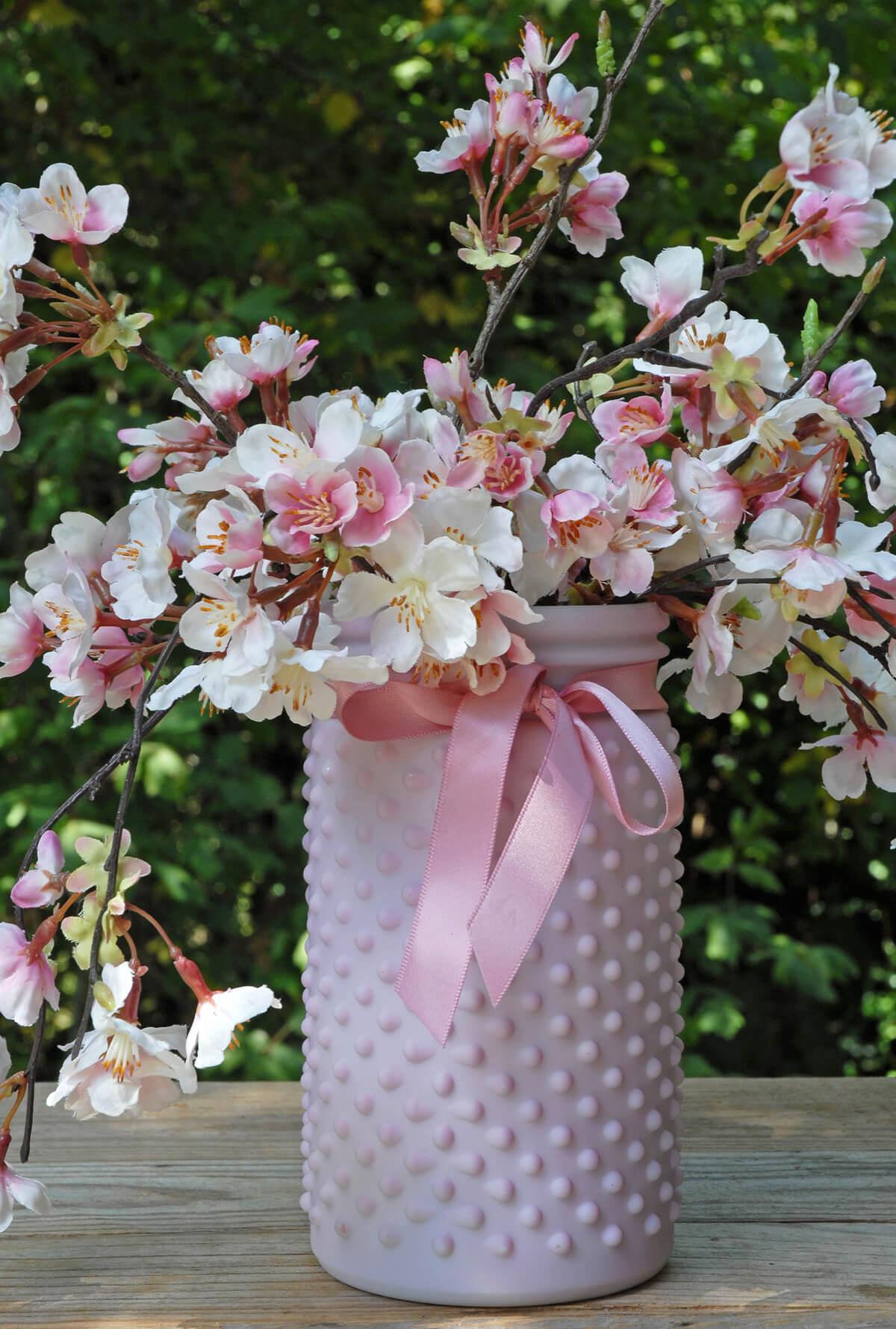 Hobnail Jar Lilac Pink 4 x 7in