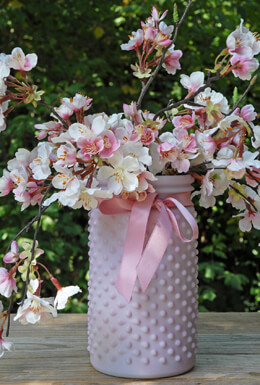 Hobnail Jar Lilac Pink 4 x 7in