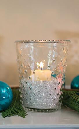 "Hobnail Annie Votive Holder & Vase  4"" x 5"" Clear Glass"