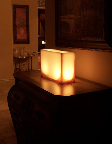 Hand Crafted 15x12 Wax Luminary Ivory