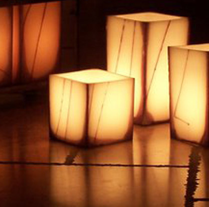 Ivory Hollow 5.5 Square Candle Wax Luminary