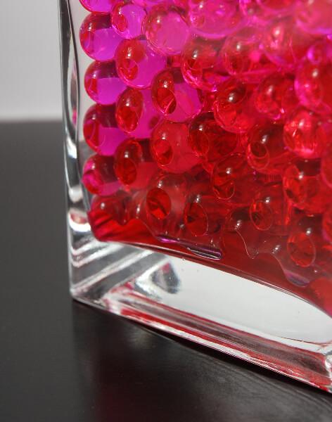 Water Pearls Pink Vase Filler Polymer Balls Pack Of 12