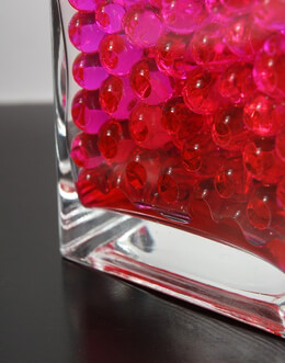 Water Pearls Pink Vase Filler , Polymer Balls Pack of 12