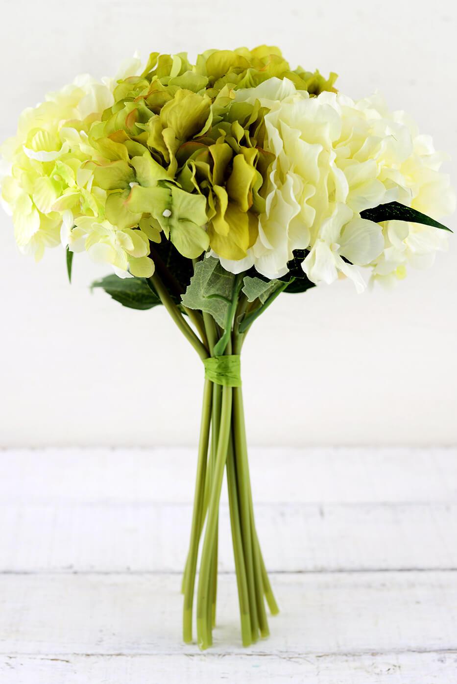Cream Amp Green Hydrangea Bouquet