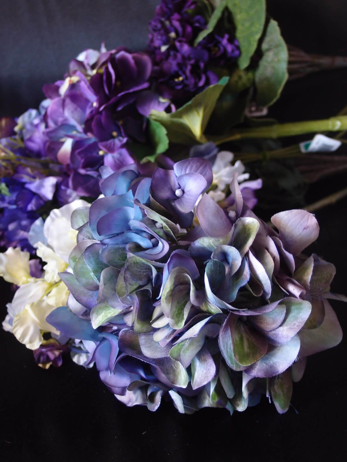 Purple & Green Silk Hydrangeas